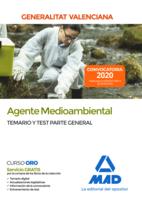 Agente medioambiental de la Administración de la Generalitat Valenciana. Parte General Temario y test