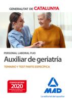 Personal laboral fijo de auxiliar de geriatría de la Generalitat de Catalunya. Temario y test de la parte específica