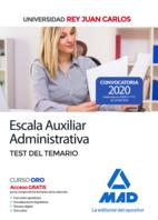 Escala Auxiliar Administrativa de la Universidad Rey Juan Carlos. Test del temario