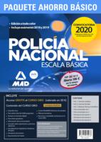Paquete Ahorro BÁSICO Escala Básica Policía Nacional 2020. Ahorra 132 € (Temario 1, 2 y 3; Test 1 y 2; Simulacros 1, 2 y 3; y acceso gratis a Curso Oro)