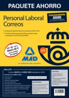 Paquete Ahorro Personal Laboral Correos 2020. Ahorra 68 € (incluye Temarios 1 y 2; Test; Nuevos test comentados y argumentados; Simulacros de Examen 1 y 2; Psicotécnico y acceso a Curso Oro)