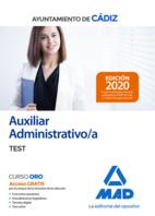 Auxiliar administrativo del Ayuntamiento de Cádiz. Test