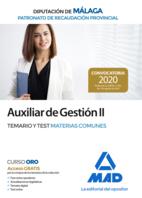 Auxiliar de Gestión II del Patronato de Recaudación Provincial de la Diputación de Málaga. Temario y test materias comunes