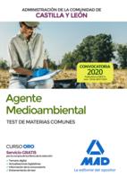 Agente Medioambiental de la Administración de la Comunidad de Castilla y León. Test de Materias Comunes