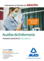 Auxiliar de Enfermería de la Comunidad Autónoma de Aragón. Temario específico volumen 2