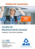 Auxiliar de Mantenimiento General de la Administración de la Generalitat Valenciana. Parte General Temario y test