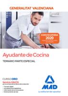 Ayudante de Cocina de la Administración de la Generalitat Valenciana. Temario Parte Especial