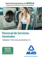 Personal de Servicios Generales (Área de Cohesión Social e Igualdad) de la Diputación Provincial de Sevilla. Temario y test de los Grupos I y II