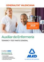 Auxiliar de Enfermería de la Administración de la Generalitat Valenciana. Parte General Temario y test