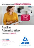 Auxiliar Administrativo del Ayuntamiento de Molina de Segura. Temario  volumen 2