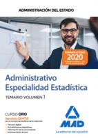 Administrativo de la Administración del Estado, Especialidad Estadística. Temario volumen 1