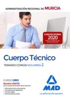 Cuerpo Técnico de la Administración Pública Regional de Murcia. Temario común volumen 2