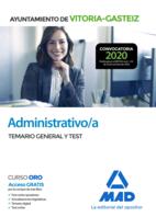Administrativo/a del Ayuntamiento de Vitoria-Gasteiz. Temario General y test