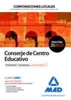 Conserje de Centro Educativo de Corporaciones Locales. Temario General volumen 2
